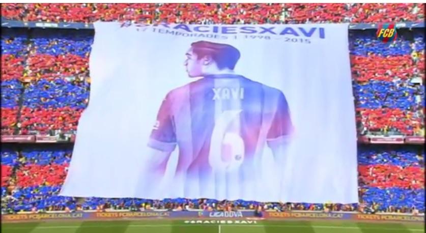 Il Barcellona saluta Xavi